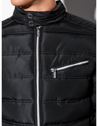 Men's mid-season quilted jacket C209 - black