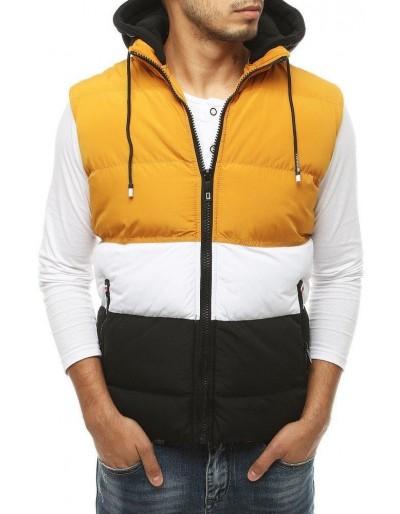 Žlutá pánská prošívaná vesta TX3379