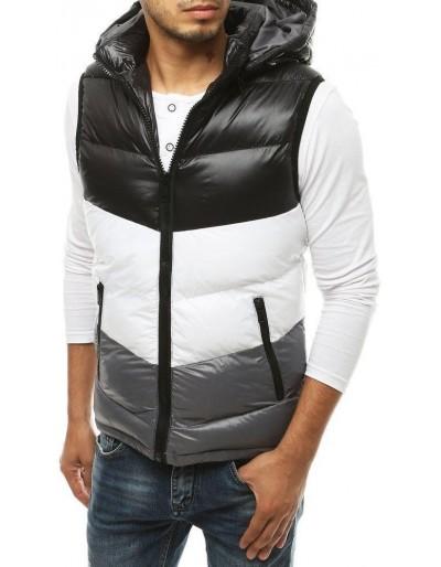 Pánská prošívaná vesta s kapucí černá TX3380