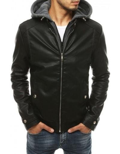 Černá pánská kožená bunda TX3396