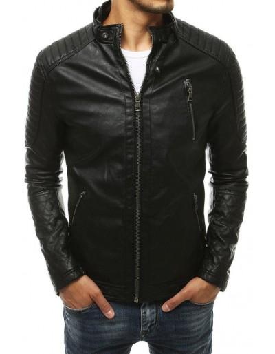Černá pánská kožená bunda TX3401