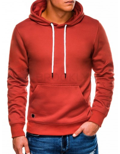Men's hooded sweatshirt B979 - brick