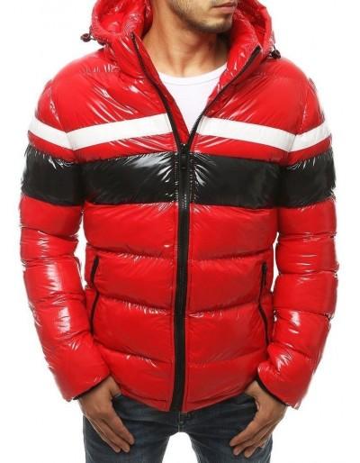 Červená pánská zimní bunda s kapucí TX3421