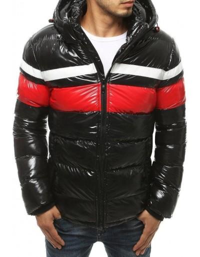 Černá pánská zimní bunda s kapucí TX3422