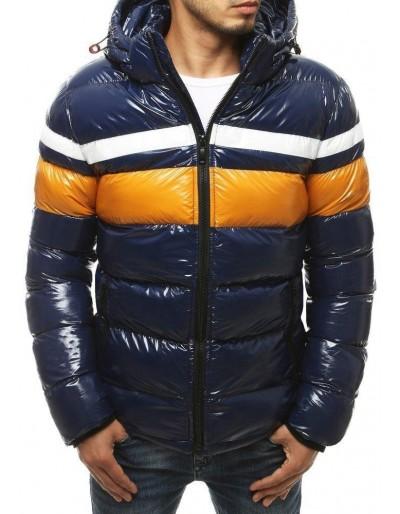 Námořnická modrá pánská zimní bunda s kapucí TX3423