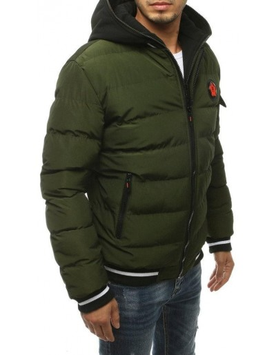 Kurtka męska zimowa pikowana zielona TX3431