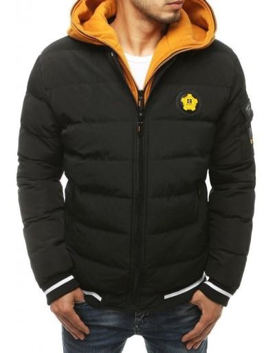 Pánská prošívaná zimní bunda, černá TX3432