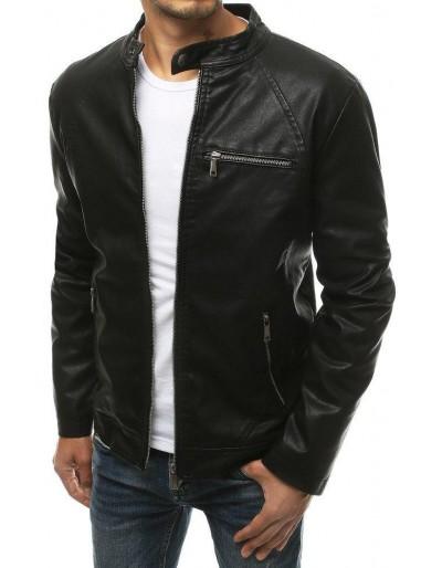 Černá pánská kožená bunda TX3435