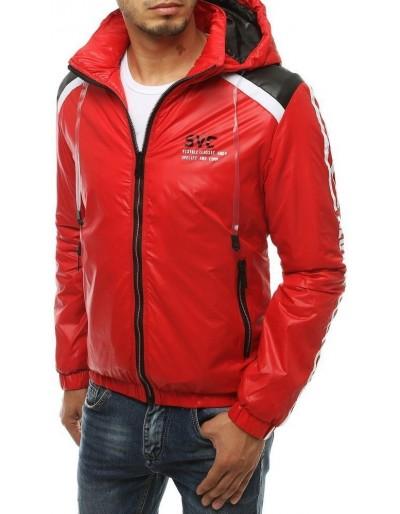 Červená pánská přechodná bunda s kapucí TX3446