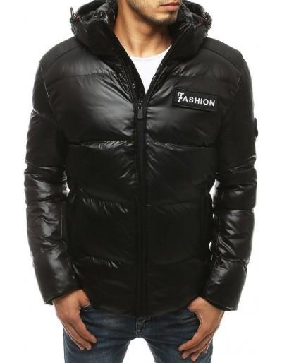 Pánská prošívaná zimní bunda černá TX3449