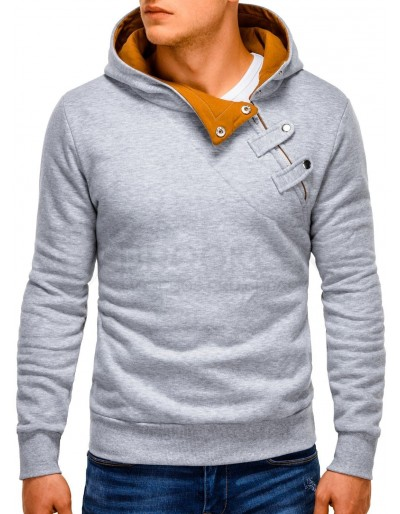 Pánská mikina PACO - šedá / velbloud
