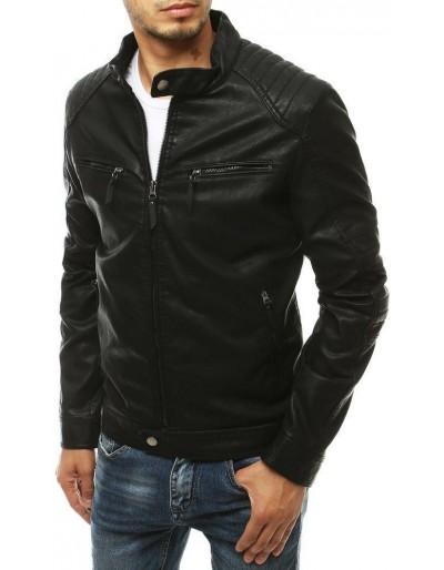 Černá pánská kožená bunda TX3453