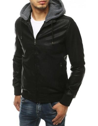 Černá pánská kožená bunda TX3456