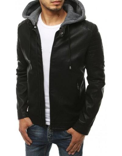 Černá pánská kožená bunda TX3457