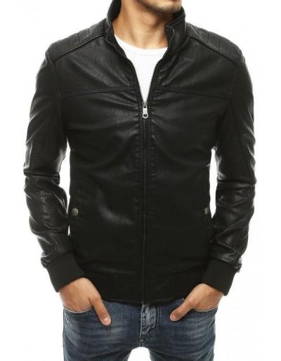 Černá pánská kožená bunda TX3460
