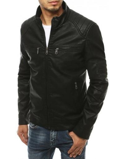 Černá pánská kožená bunda TX3462