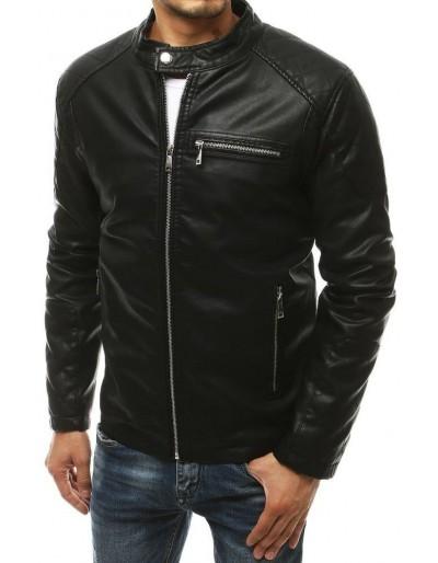 Černá pánská kožená bunda TX3463
