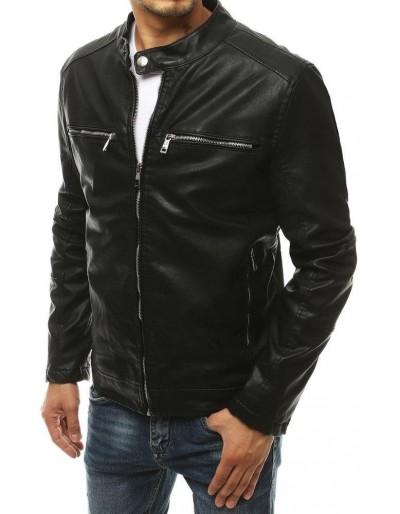 Černá pánská kožená bunda TX3464