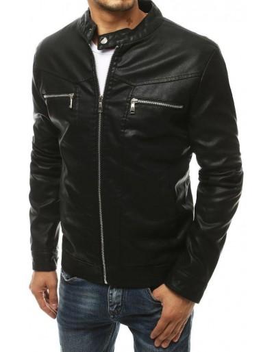 Černá pánská kožená bunda TX3465