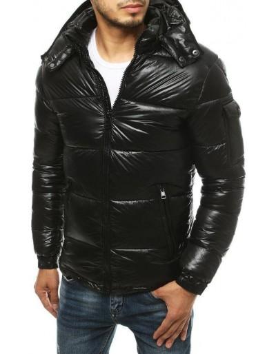 Pánská prošívaná zimní bunda, černá TX3467