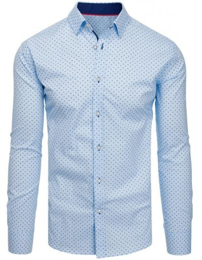 Modré pánské tričko se vzory DX1936