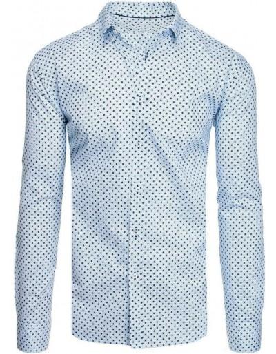 Bílé pánské tričko se vzory DX1937