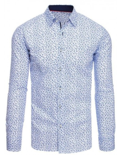 Bílé pánské tričko se vzory DX1938
