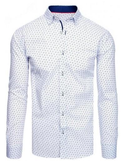 Bílé pánské tričko se vzory DX1940