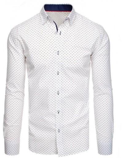 Bílé pánské tričko se vzory DX1941