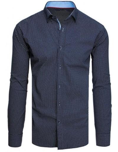 Námořnická modrá pánská košile se vzory DX1943