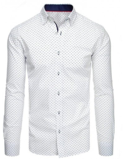 Bílé pánské tričko se vzory DX1944