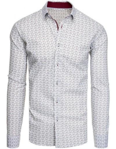 Bílé pánské tričko se vzory DX1945