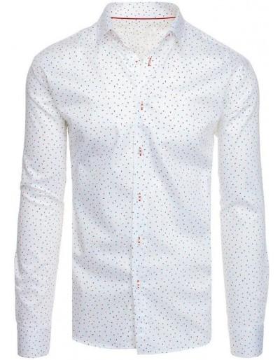 Bílé pánské tričko se vzory DX1949