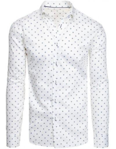 Bílé pánské tričko se vzory DX1950