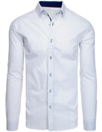 Bílé pánské tričko se vzory DX1951