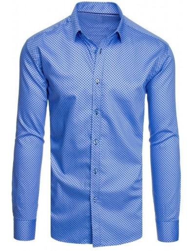 Modré pánské tričko se vzory DX1952