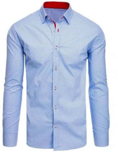 Modré pánské tričko se vzory DX1954