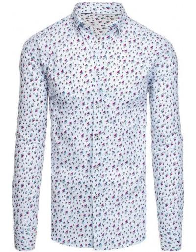 Bílé pánské tričko se vzory DX1955