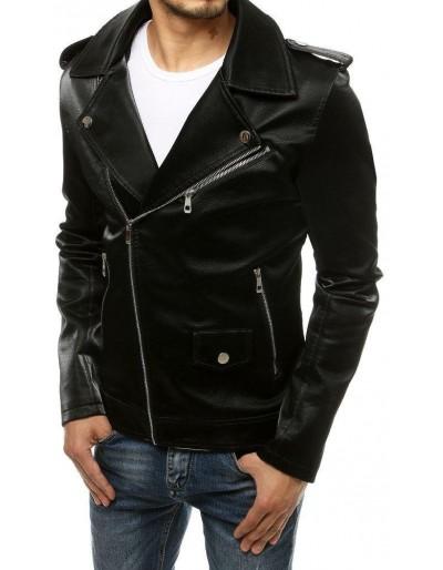 Pánská kožená bunda ramones černá TX3470