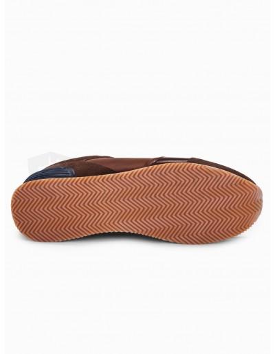 Men's casual sneakers T332 - brown
