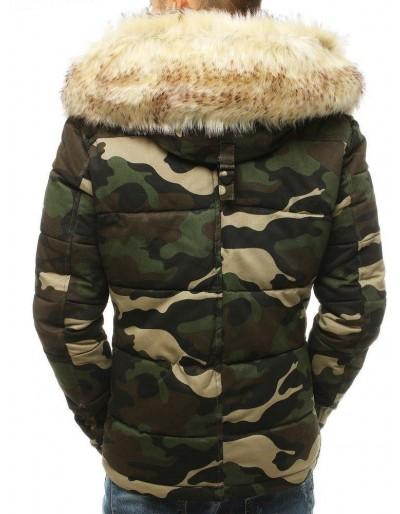 Pánská zimní maskáčová bunda