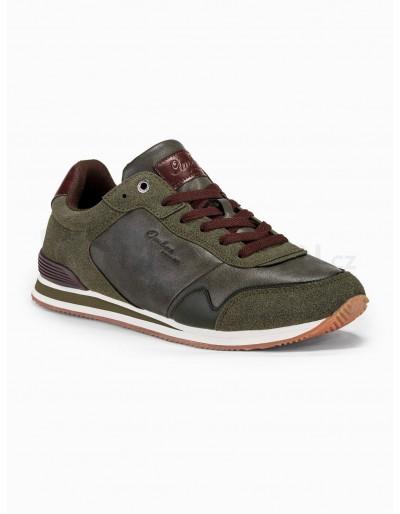 Men's casual sneakers T332 - khaki