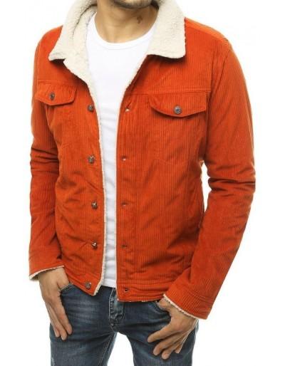 Oranžová pánská manšestrová bunda TX3499