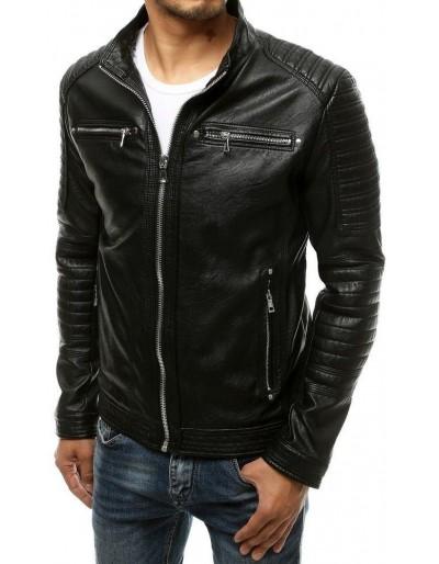Černá pánská kožená bunda TX3505