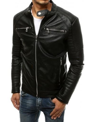 Černá pánská kožená bunda TX3506