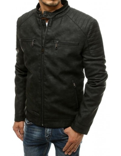 Černá pánská kožená bunda TX3509