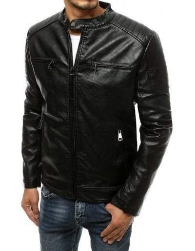 Černá pánská kožená bunda TX3510