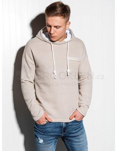 Men's hooded sweatshirt B963 - beige