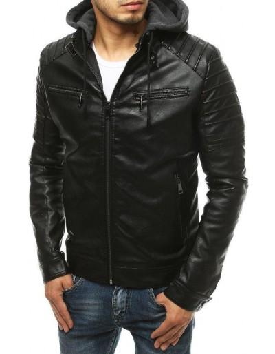 Černá pánská kožená bunda TX3512