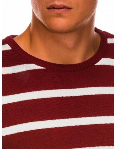 Men's sweater E155 - dark red